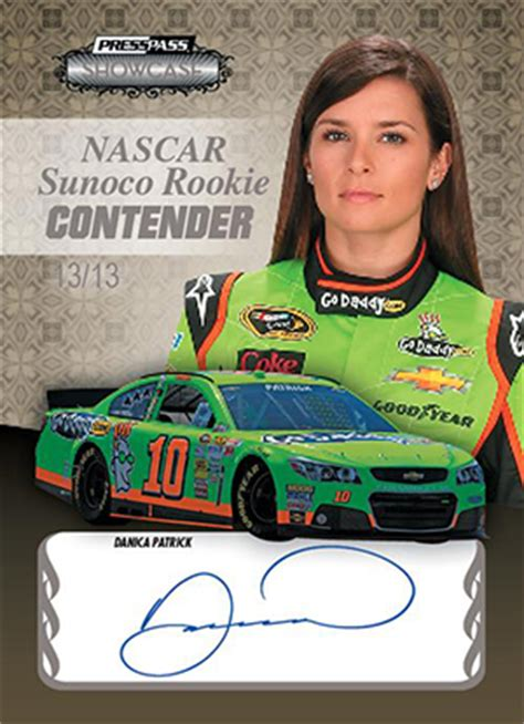 racing autograph card template 2013 press pass showcase racing set info boxes reviews more
