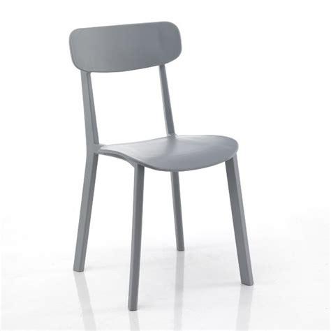 sedie moderne 4 sedie moderne design minimal grigio in polipropilene