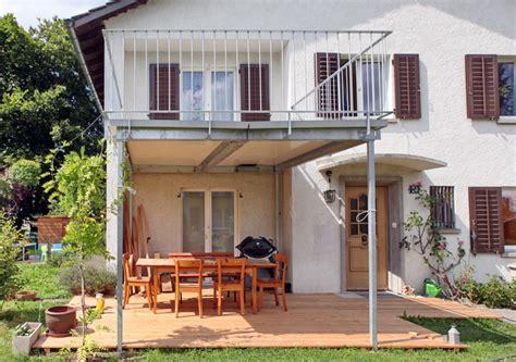 terrasse anbauen was kostet ein balkon aus metall das beste aus