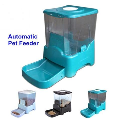 Programmable Water Feeder 4 6 large programmable timer automatic pet cat food feeder water tray bowls ebay