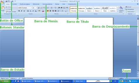 partes de la ventana de microsoft word office de 2016 aprendiendo informatica partes de la ventana de word