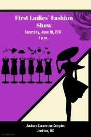 Fashion Show Template Customizable Design Templates For Fashion Show Postermywall