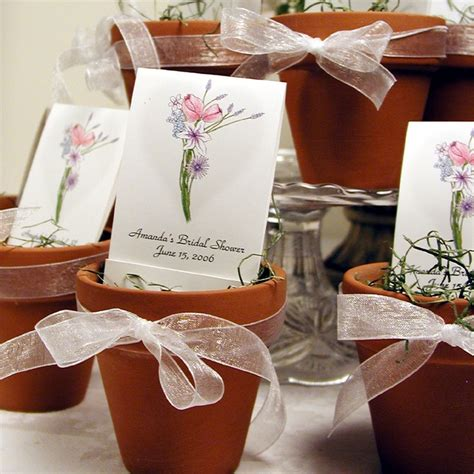 bridal shower theme for gifts 2 terra cotta pots are adorable with personalized seed