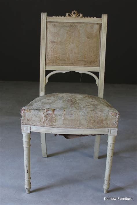 single occasional vintage shabby chic french white chair 163 65 00 picclick uk