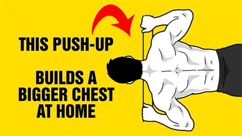 build a bigger chest at home with this push up