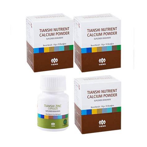 Suplemen Zinc Tiens jual tiens paket suplemen peninggi badan 3 calcium nhcp