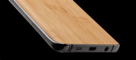 Custom Skin For Samsung Note 5 Wood Glossy Texture galaxy note 5 skins wraps covers 187 dbrand