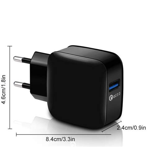 Wall Charger Usb 1 Port Quickcharge 3 0 wall charger usb 1 port quickcharge 3 0 black jakartanotebook