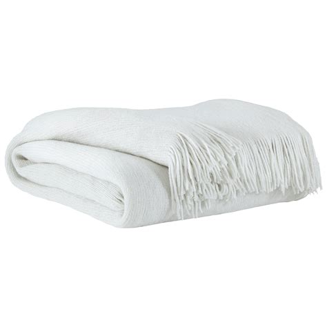 White Throws For Sofas by Signature Design By Throws Rozelle White Throw