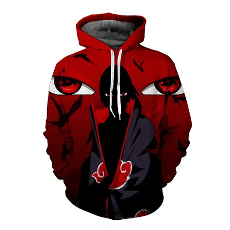 anime jacket naruto sasuke 3d anime hoodie sweatshirt male long sleeve