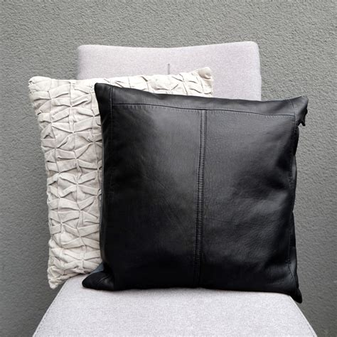 Pillows On Black Leather by Black Leather Pillow Luxurious Pillow Pillow Cover