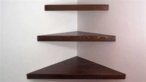 Triangle Corner Shelf by The Wide Ranges Of Ideas Of The Floating Corner Shelves