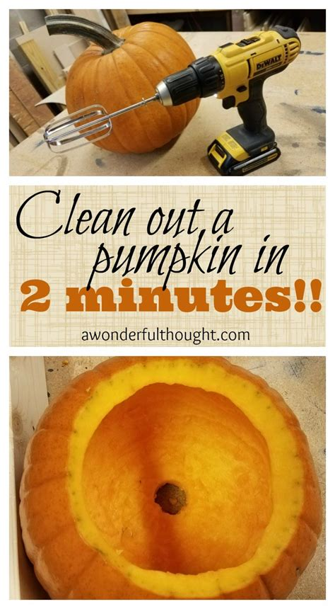 clean out a pumpkin in 2 minutes a wonderful thought