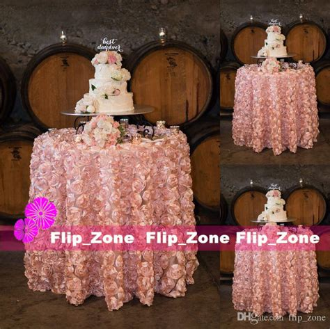 lighted blanket table runner blush pink 3d flowers table cloth for wedding