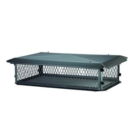 home depot chimney cap bigtop 64 in x 17 in chimney cap in black galvanized