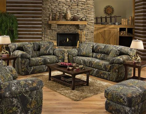 amazing living room interior design with camouflage sofa