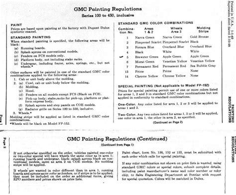 exterior paint specifications 1949 gmc up truck original paint colors the