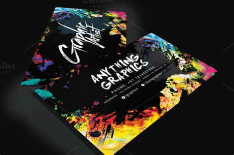 business card templates graphic design artistic business card for designers business card