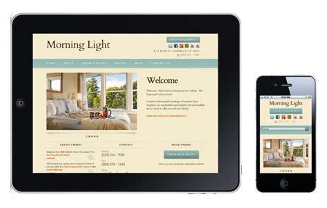 mobile website design for hotels inns b bs