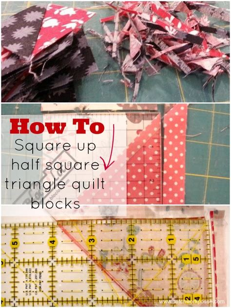 How To Cut Quilt Squares by How To Square Up Your Half Square Triangle Quilt Block