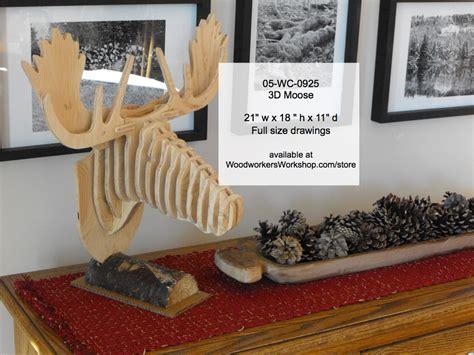 wc   moose head woodworking pattern
