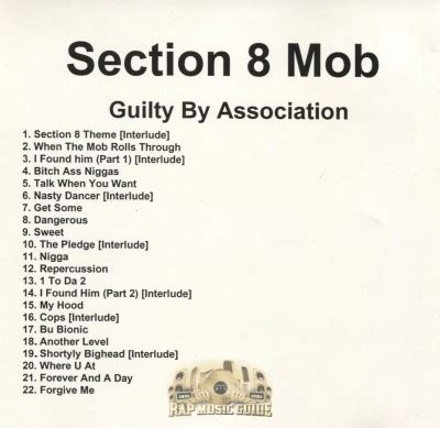 section 8 mob section 8 mob guilty by association promo cd rap