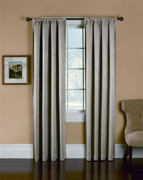 kmart window curtains room darkening taupe embossed panel rest easy with sears