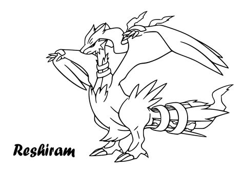 pokemon coloring pages kyurem free coloring pages of pokemon black reshiram