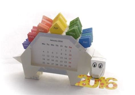 Papercraft Calendar - papercraftsquare new paper craft 2016 dino