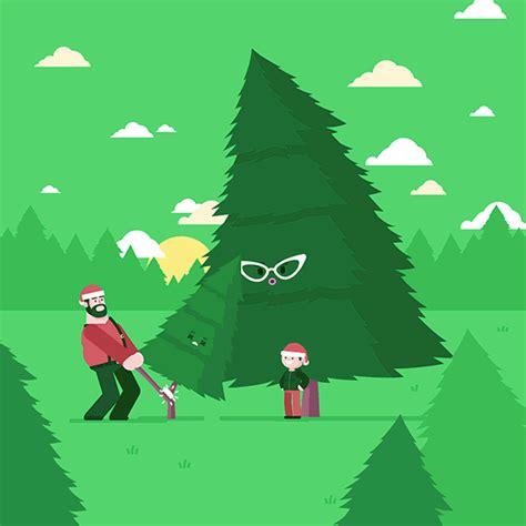 xmas tree animated gif  behance