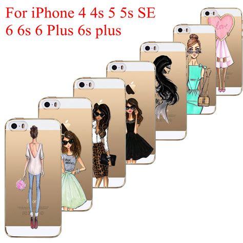 Monochrome Softcase For Iphone 4 5 Se 6 6s 6 beautiful dress shopping patterns soft tpu back
