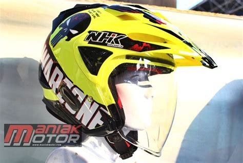 Helm Nhk Motor Cross nhk godzilla half tapi aerodinamis kacanya teknologi f1 portal sepeda motor