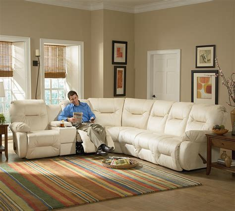 power reclining sectional sofa casual power reclining sectional sofa with storage console