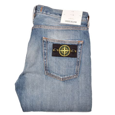 light stone washed denim jeans stone island 6015j1bi4 light wash slim fit jeans stone