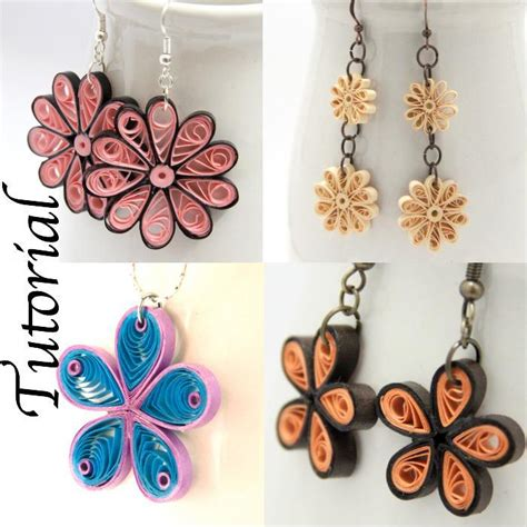 Paper Jewellery Tutorial - paper quilled flower jewelry tutorial by honeysquilling