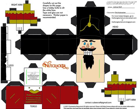 nutcracker template x mas21 the nutcracker cubee by theflyingdachshund on