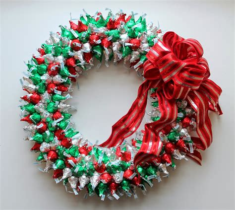 hershey kiss christmas crafts hershey s kisses wreath