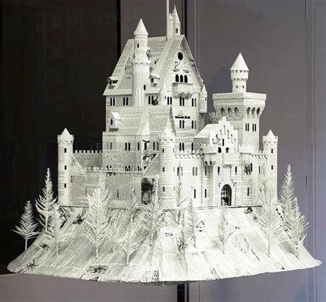 Paper Craft Castle - white paper castle papercraft castle