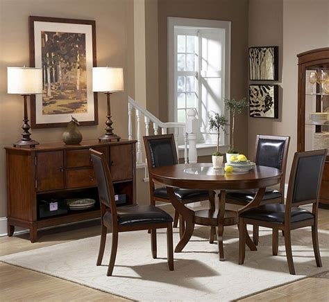 round dining room sets for 8 homelegance avalon 8 piece round dining room set in cherry