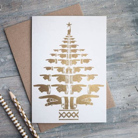 tree card letterpress gold tree card by print for