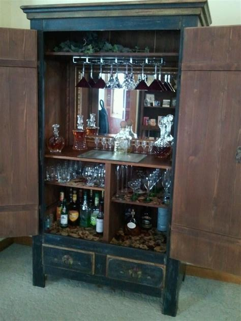 armoire bar from armoire to bar projects and diy pinterest