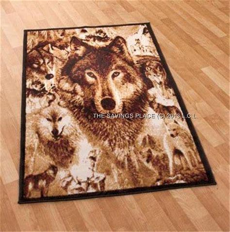 rustic lodge inspired detailed image wildlife rugs deer