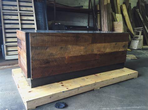 steel office desk reclaimed wood steel office desk