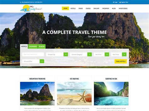 best travel site 15 best travel agency themes for 2018 siteturner