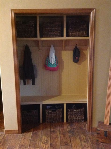 Mud Room Closet by White Closet Mud Room Diy Projects