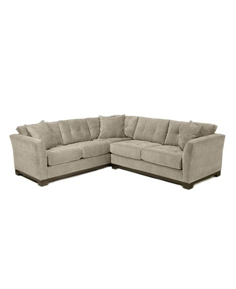 Elliot Sectional Sofa Elliot Fabric Microfiber 2 Sectional Sofa