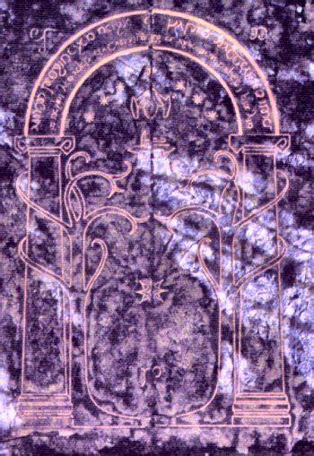 Door To Moria by Lord Of The Rings Symbolism Moria Door And Freemasonry