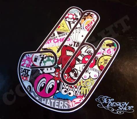 Stickerbomb Aufkleber by Stickerbomb Shocker Aufkleber Jdm Sticker Bomb
