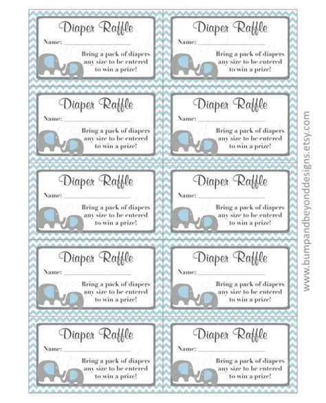 diy raffle ticket template free printable raffle ticket template baby shower