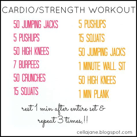 at home cardio workouts no equipment